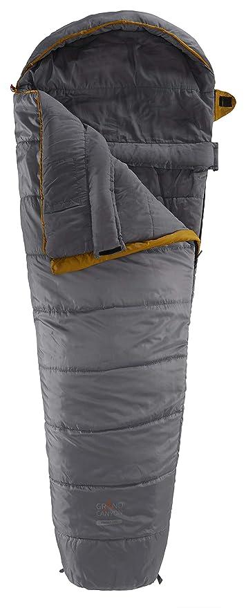 GRAND CANYON Kansas - saco de dormir tipo momia, 3 estaciones, oliva, 601001L: Amazon.es: Deportes y aire libre