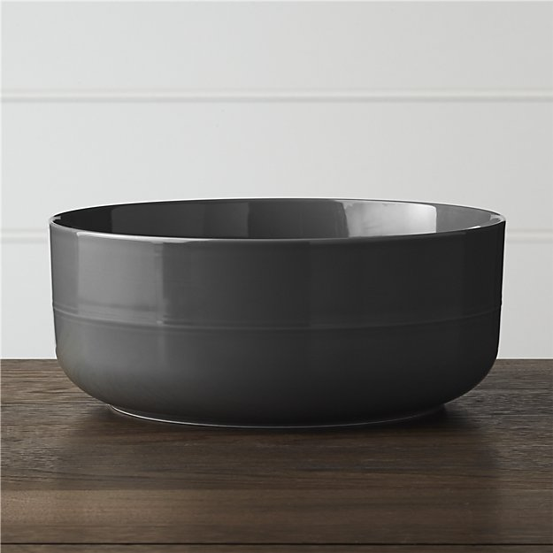 Hue Navy Blue Serving Bowl | Crate and Barrel