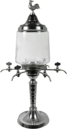 2 Traditional Rooster Absinthe Fountain, 6 Spout