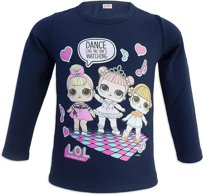 L.O.L. Surprise! MGA Camiseta Mangas Largas - para niña - 02075X [Azul Dance - S - 4 años]: Amazon.es: Ropa y accesorios