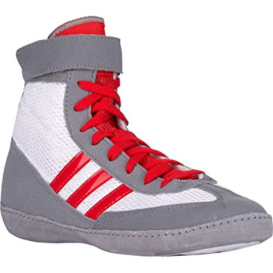 Adidas Combat Speed 4 Youth Wrestling Shoes 1.5 WhiteRedGray