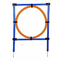 Trixie Dog Activity Agility Ring, 115 ラ 3 cm 65 cm, Orange/ Blue