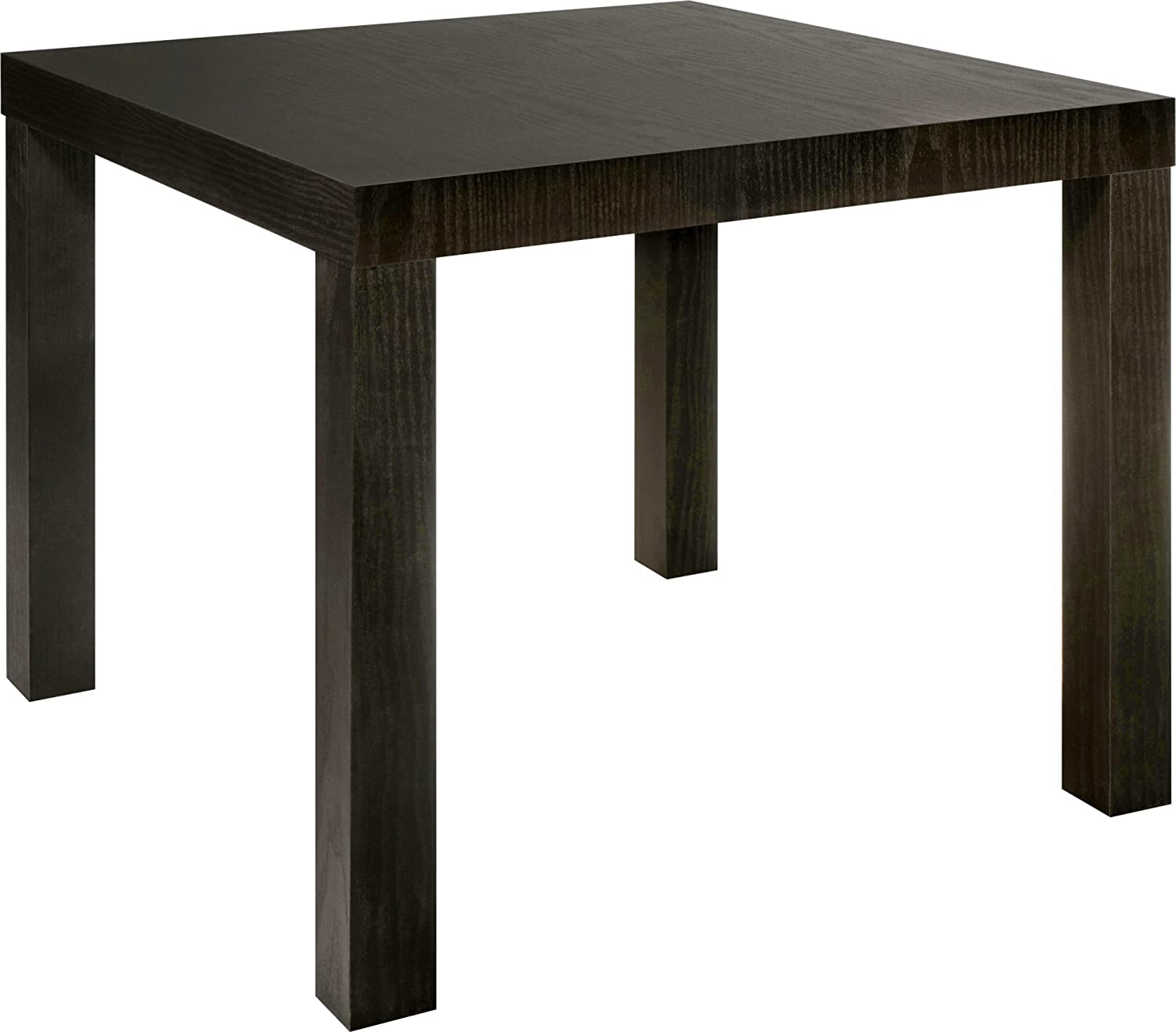 Amazoncom DHP Parsons Modern End Table Black Wood Grain Kitchen