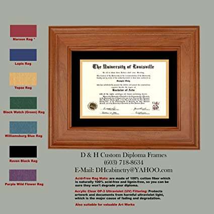 Amazon.com: University of Louisville - UofL Diploma Frame - Custom ...