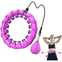 ShinePick Hullahub Hoelabanden, instelbare brede fitnessbanden, fitnesshoepel met massagenoppen voor gewichtsverlies…