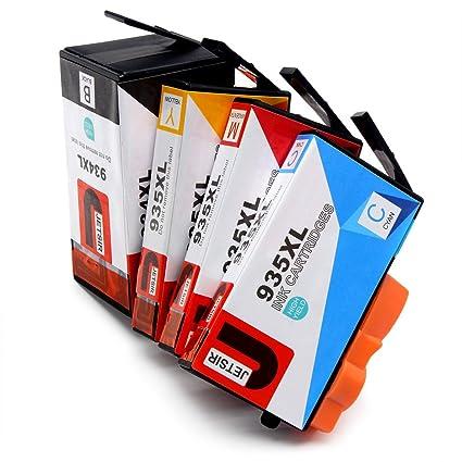 JETSIR Compatible Cartuchos de tinta Reemplazo para HP 934XL 935XL ...