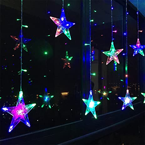 Ordinaire KISENG LED Flashing Star String Fairy Lights Wedding Curtain String Lights  For Bedroom With 6 Free