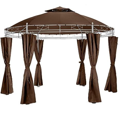Tectake Tonnelle De Luxe Tente Ronde Pavillon De Jardin D Evenement