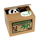 Stealing Coin Money Box HmiL-U Automatic Stealing Coin Cent Penny Cat Piggy Bank With Voice Christmas/Birthday Gift for Kids Child (Panda)
