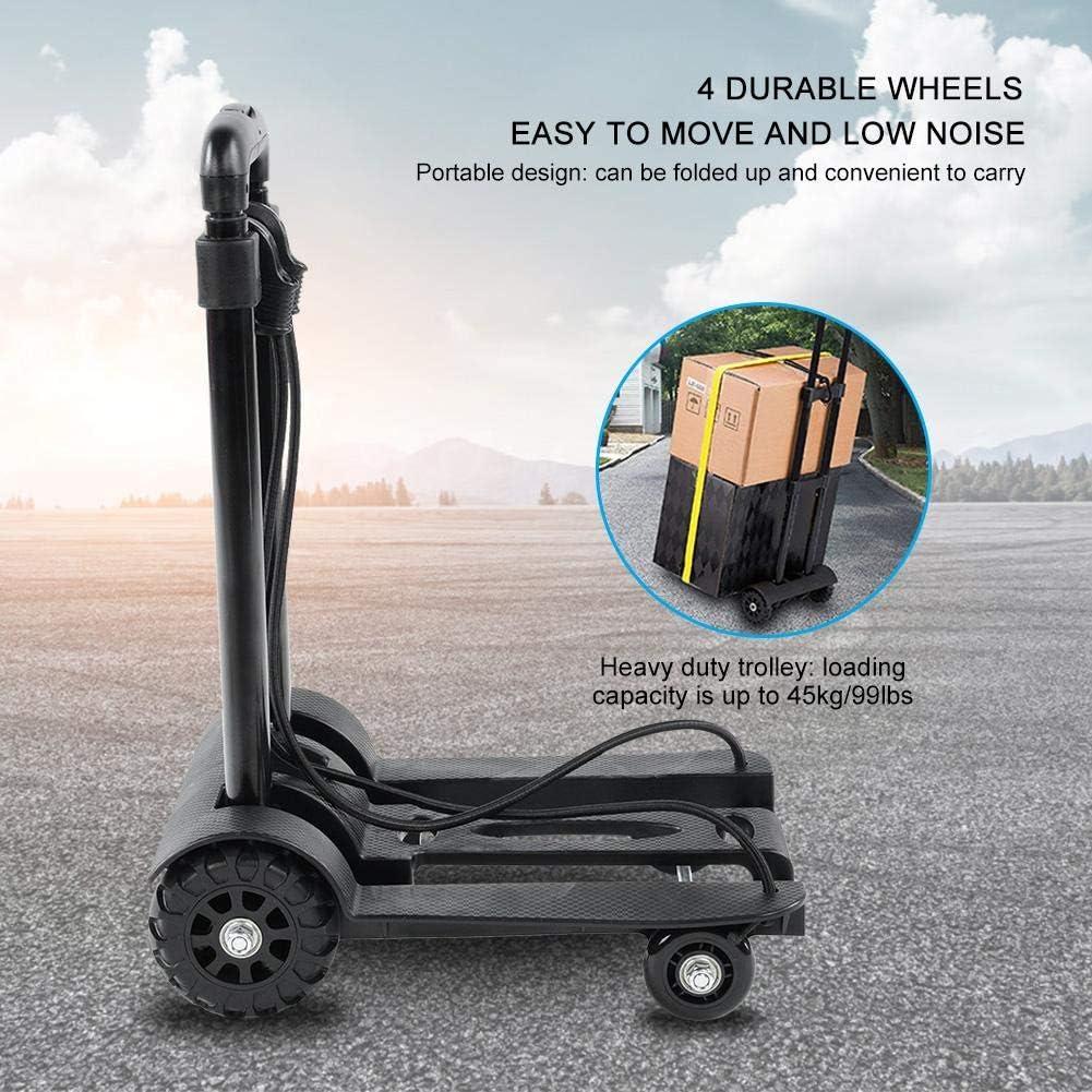 Trolley Pieghevole Carrello Portapacchi Solide a 4 Ruote per Uso Personale,Viaggio capacit/à 45kg//99 lbs Zoternen Carrello Pieghevole Carrello Richiudibile Portatile Ufficio