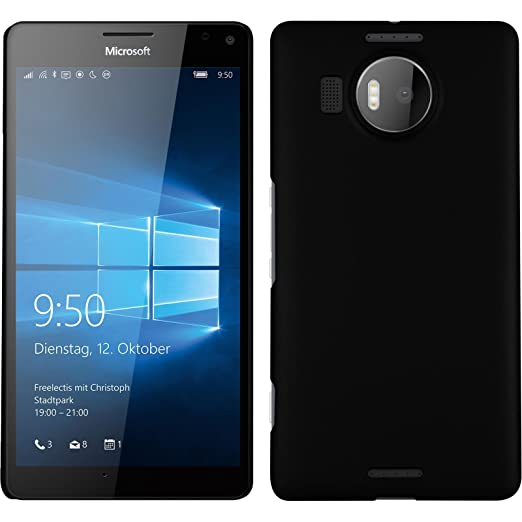 4 opinioni per Custodia Rigida per Microsoft Lumia 950 XL- gommata nero- Cover PhoneNatic Case