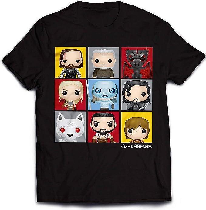 Official Juego de Tronos - Personaje Pop Art - Camiseta Oficial Hombre - Negro, Small: Amazon.es: Ropa y accesorios