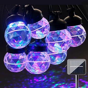 ACRATO Solaire LED Projecteur Guirlande Lumineuse USB 7m 8 LED ... on