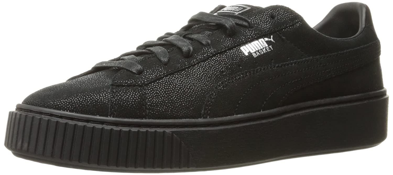 PUMA Women's Basket Platform Reset Fashion Sneaker B01LPVQEXO 7.5 M US|Puma Black-puma Black-puma Black