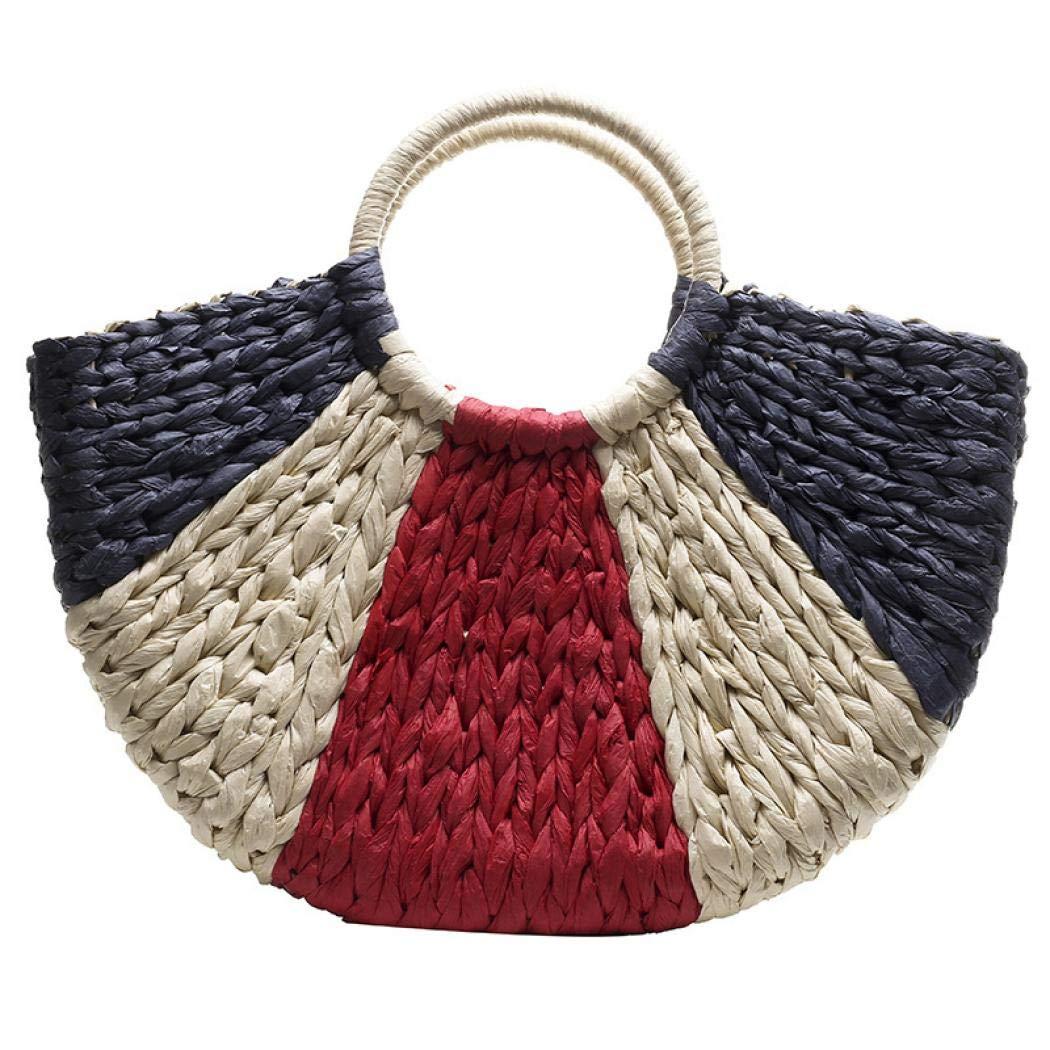 Bolsa de mano hecha a mano con paja, estilo hobo, estilo ...