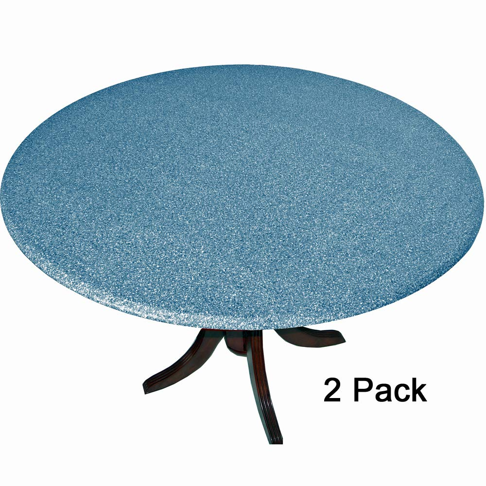 2 Pack of 2 Fitted Tablecloths Tablecovers Table Covers Granite Look Blue fits 36-48 Sperry Mfg