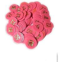 HENCO Plastic Coin/Token Pink/Orange NO. 1 to 100