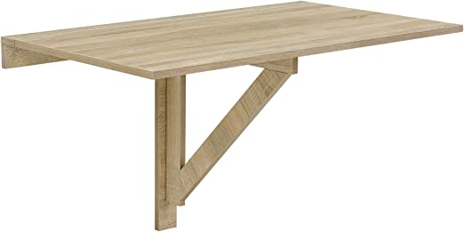 Mesa plegable de pared de la marca [en.casa]®, de color madera de ...