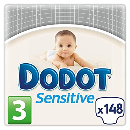 fb5db4576551 Dodot Sensitive - Pañales para bebés, talla 3 (5 - 10 kg), 2 packs ...