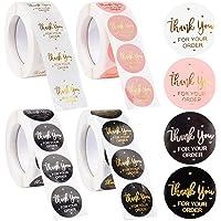 2000 stuks bedankstickers, EBANKU 1 inch / 2,5 cm bedankt voor uw bestelling stickers, ronde folie bedankstickers…