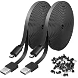 2 Pack 20FT Power Extension Cable Compatible with WyzeCam, Wyze Cam Pan, NestCam Indoor,Blink, Yi Camera,Amazon Cloud…