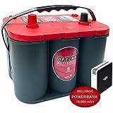 Optima 8020-255 BCI25 RT S 3.7 Red Top Battery 44Ah 730cca L237 x W172 x H197