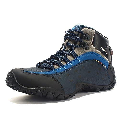 SANANG Wasserdichte Leder Outdoor Wanderschuhe Herbst Winter Herren Sport Trekking Bergsteigen Stiefel