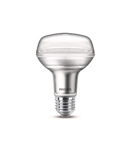 Philips bombilla LED reflectora casquillo gordo E27, R80 ...
