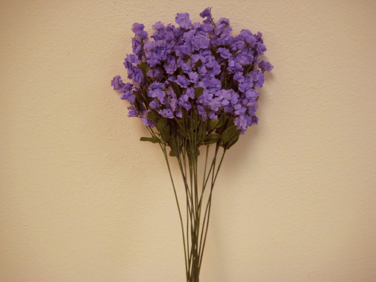 Phoenix-Silk-12-Sprays-LAVENDER-Ruffle-Baby-Breath-Filler-Artificial-Silk-Flowers-15-Stem-INT