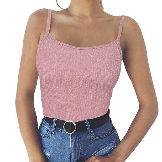 ESAILQ Mode Frauen Sexy Tank Top Weste Schulterfrei Halter Bluse T-Shirt   Amazon.de  Bekleidung a73b59de5e