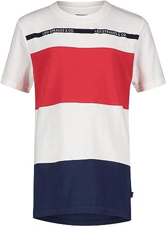 Camiseta Levis Striped Blanco para Niño 2 Blanco: Amazon.es ...