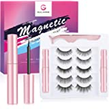 Gulanne Magnetic Eyelashes with Eyeliner, 5Pairs Reusable Custom Style Natural Look Magnetic Lashes, Eyelashes with 2…