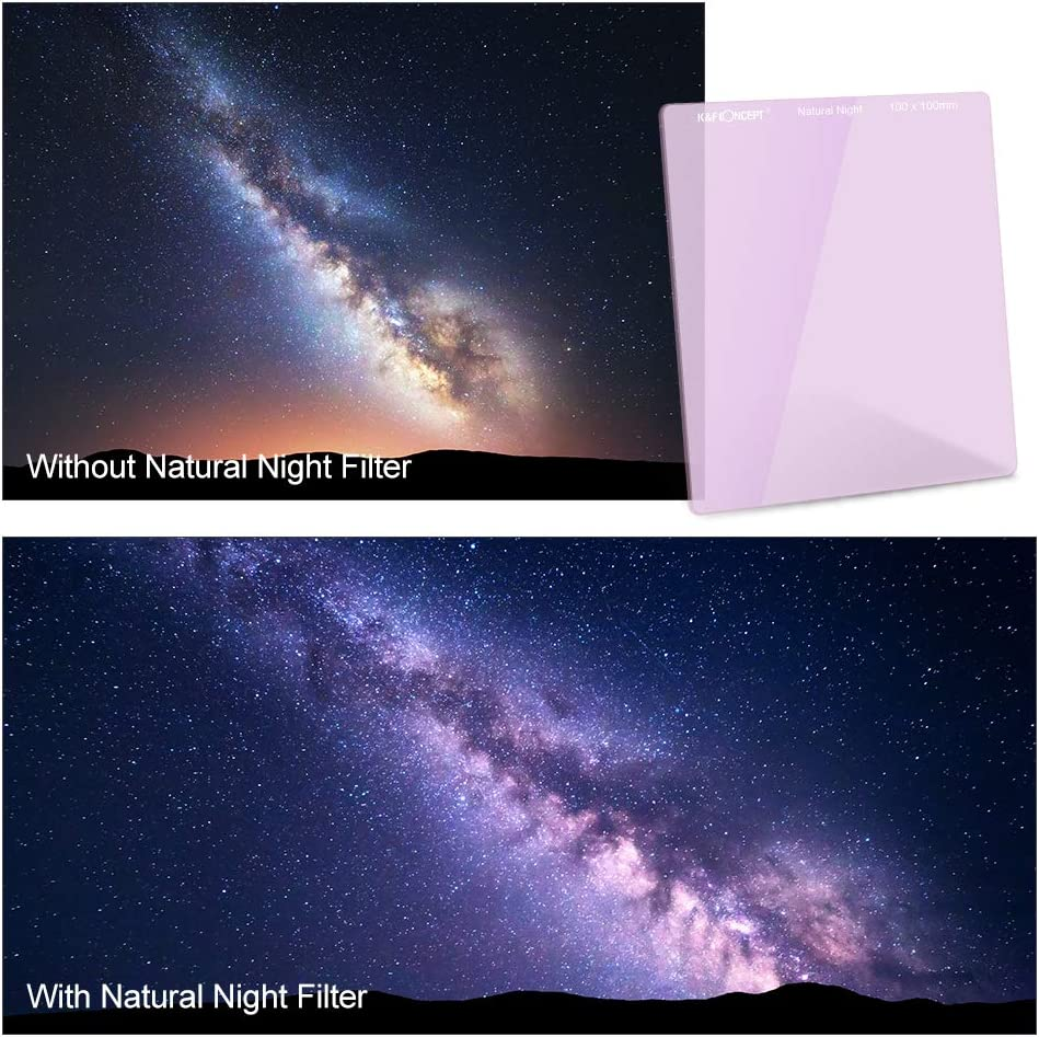 K/&F Concept Natual Night Filter Light Pollution Filter for Night Photography Sky//Star Astrophotography Optical Glass Double Sided and Multi-Layer Coating Waterproof and Oil Resistant Nano Coating
