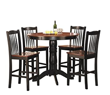 woodbridge home designs andover 5 piece counter height dining set