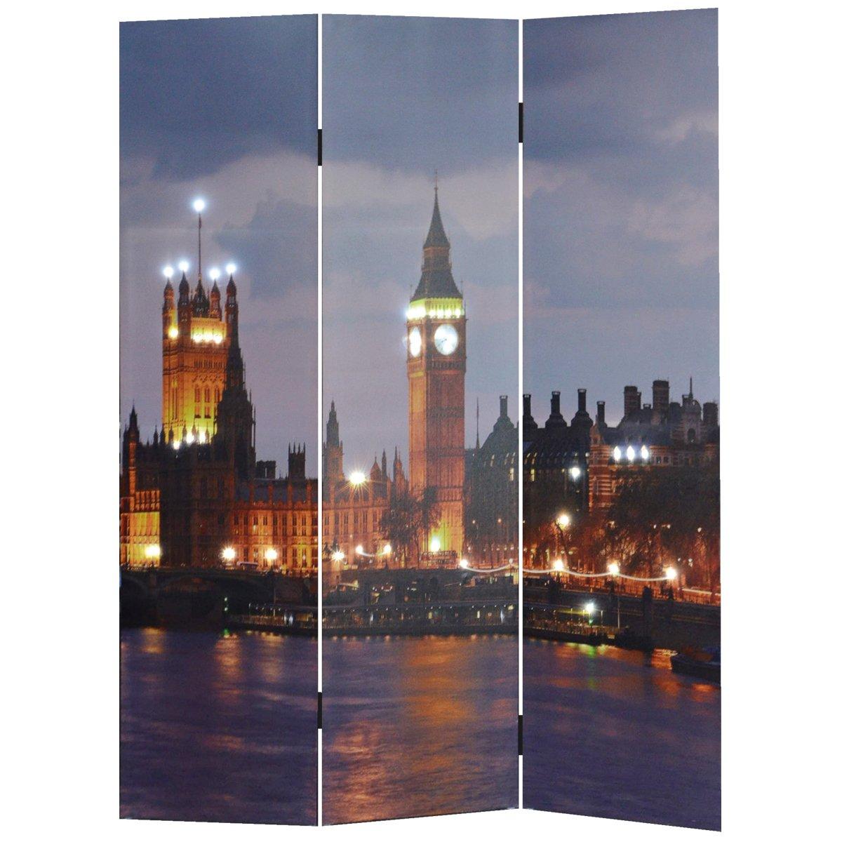 TLW direkt 9026 Paravent Big Ben 3-teilig mit LED