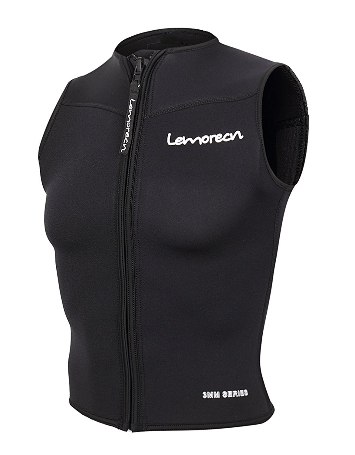 Lemorecn Mens Wetsuits Top Premium Neoprene 3mm Zipper Diving Vest (2095black3XL) by Lemorecn