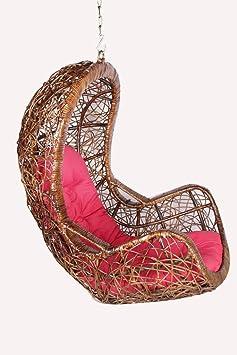 Novelty Cane Art Rattan Scribble Patterned Designer Swing Chair