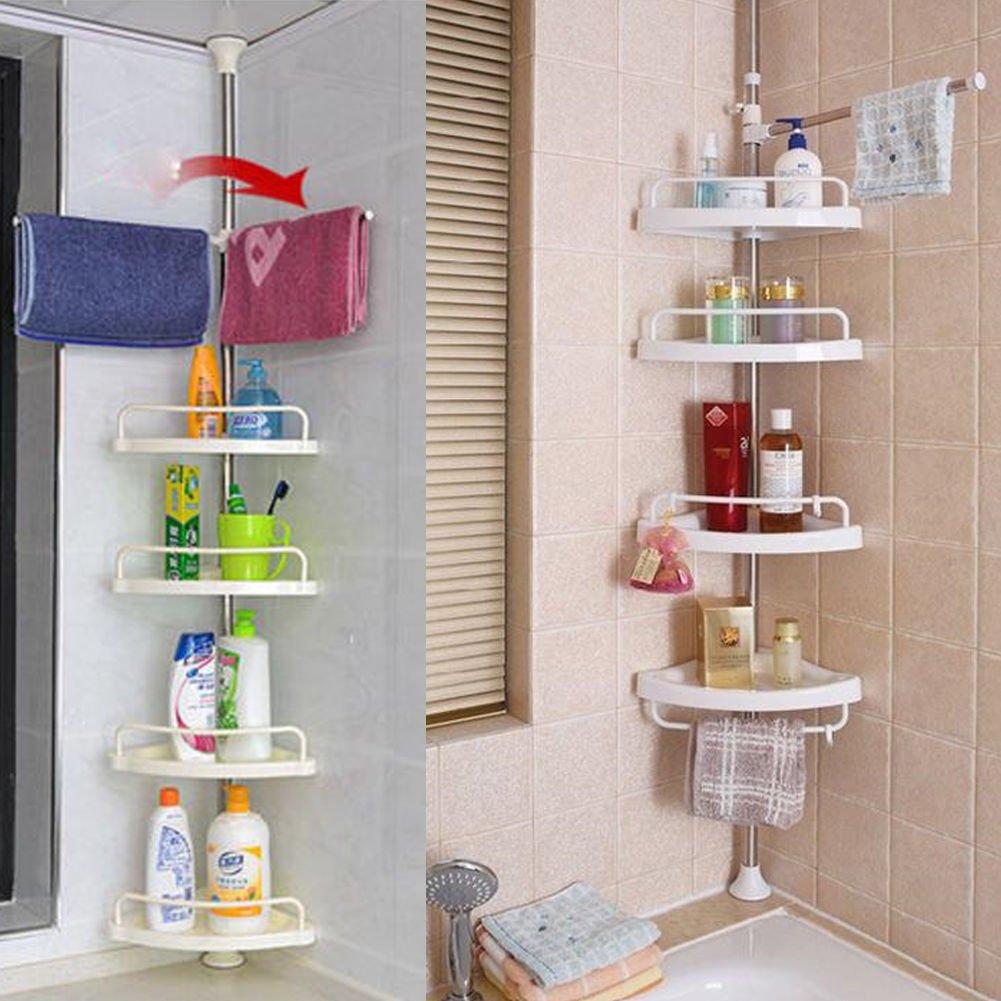 Amazon.com: Estante organizador de esquina para bañera o ...