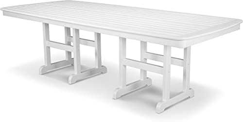 POLYWOOD NCT4496WH Nautical 44 x 96 Dining Table, White