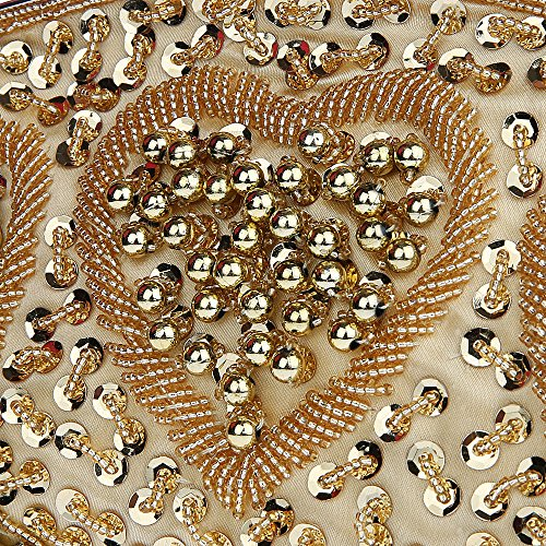 Wedding Party Embroidery Bridal Handbag Sequin Vintage MMYOMI Crossbody Clutch Gold 2 Prom Beaded Bag Evening Floral Ladies Fn0qY