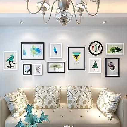Amazon.com - SX-ZZJ photo wall Living Room Wood Photo Wall ...