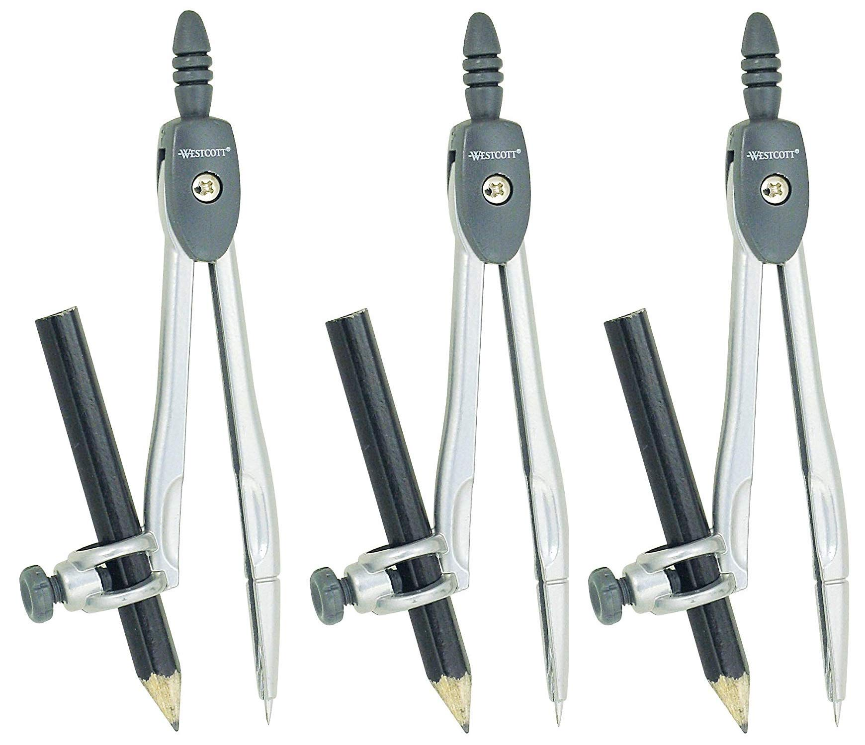 Westcott Metal Compass with Wooden Pencil (3-(Pack)) by  (Image #1)