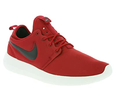 wholesale dealer 12c6b bebd7 Nike Roshe Two Mens Shoes Gym Red Black Sail Volt 844656-600 (9. 5 D(M)  US)  Buy Online at Low Prices in India - Amazon.in