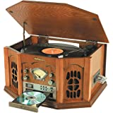 Anders Nicholson Oak Nostalgic Stereo with Record Player