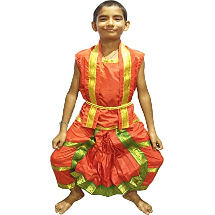 4502ab578 Fancy Steps Male Bharatnatyam bharatanatyam Fancy Dress | Indian Dance Traditional  Wear | Annual Function