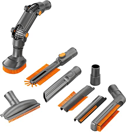 VonHaus - Juego de 8 piezas de accesorios para aspiradora, kit de limpieza de cepillo de tapicería para aspiradoras de 32 mm o 35 mm: Amazon.es: Hogar