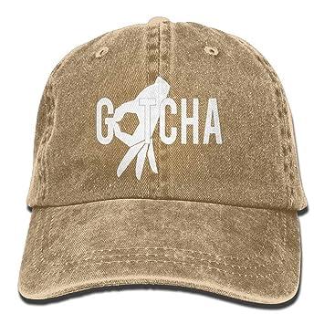 rongxincailiaoke Gorras béisbol Gotcha Finger Baseball Caps Denim ...