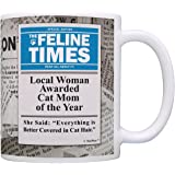 Best Cat Mom Ever Local Woman Awarded Cat Mom of Year Crazy Cat Lady Gift Mom Mug Tea Cup News