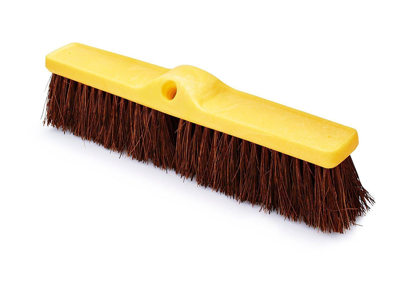 Rubbermaid Commercial  Fine Floor Sweep, Palmyra, Plastic Broom Head, 18'', FG9B1600BRN