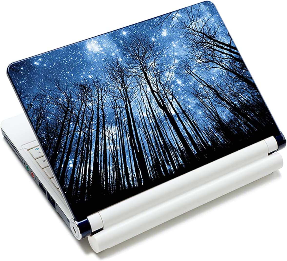 Universal 12.1 13 13.3 14 15 15.4 15.6 Inches Laptop Skin Sticker Decal Personalized Netbook Skin Sticker Reusable Notebook Art Decal Protector Cover Case by AORTDES - Forest at Peaceful Moonlight